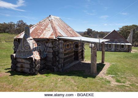 Die Käse-Haus der Coolamine Homestead Komplex, Kosciuszko-Nationalpark, New-South.Wales, Australien - Stockfoto