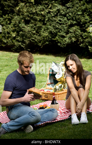 paar, Picknick - Stockfoto