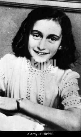 Anne Frank (1929-1945). Artist: Unbekannt - Stockfoto