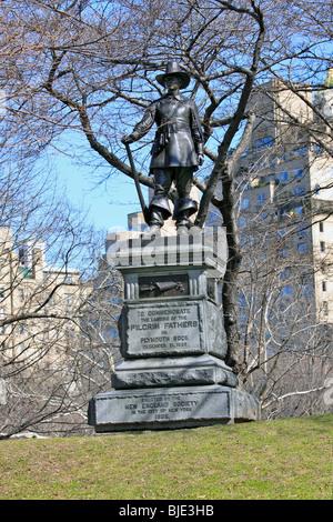Die Pilgrim Monument, zum Gedenken an die Landung der Plymouth Rock von 1620, errichtet im Jahre 1885, Central Park, - Stockfoto