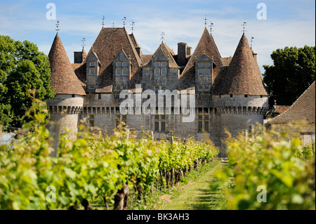 Chateau de Monbazillac, Monbazillac, Dordogne, Frankreich, Europa - Stockfoto