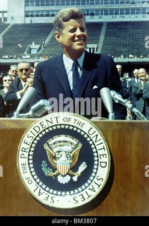 Präsident John F. Kennedy eine Rede - Stockfoto