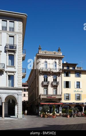 Typisch Schweizer Platz in Lugano, Schweiz - Stockfoto