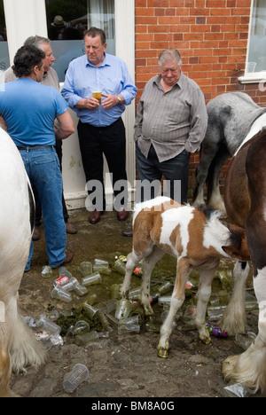 Gypsy jährliche Pferdemesse. Wickham Hampshire UK. HOMER SYKES - Stockfoto