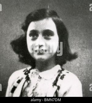 ANNE FRANK (1929-1945) jüdischen Opfer des Holocaust, dessen Tagebuch eines der weltweit ist, meistgelesene Bücher - Stockfoto