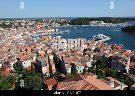 Blick über die Altstadt von Rovinj, Kroatien - Stockfoto