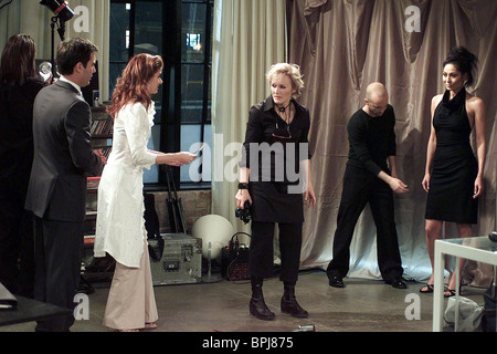 ERIC MCCORMACK DEBRA MESSING & GLENN CLOSE WILLEN & GNADE: STAFFEL 5 (2002) - Stockfoto