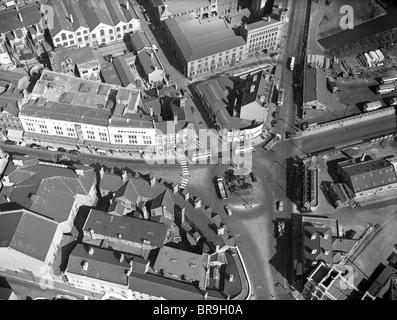 Luftaufnahme von Lichfield Street Wolverhampton in den 1950er Jahren - Stockfoto