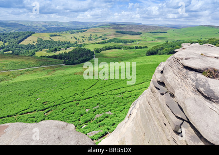 Robin Hauben Höhle auf Hathersage Moor im Peak District National Park Derbyshire England - Stockfoto