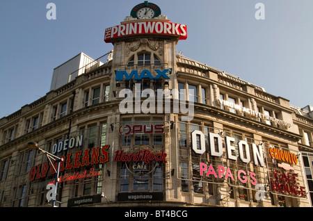 Das Printworks Entertainment Centre in Manchester Stadtzentrum - Stockfoto