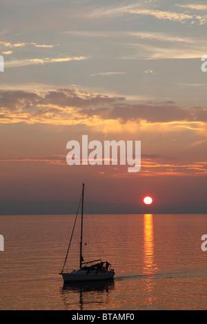 Kroatien, Istrien, Rovinj, Sonnenuntergang, - Stockfoto
