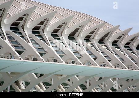 Principe Felipe Science Museum Stadt der Künste und Wissenschaften Valencia, Spanien - Stockfoto