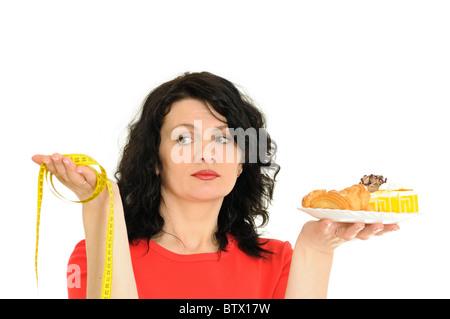 Frau und eine gesunde Ernährung - Stockfoto