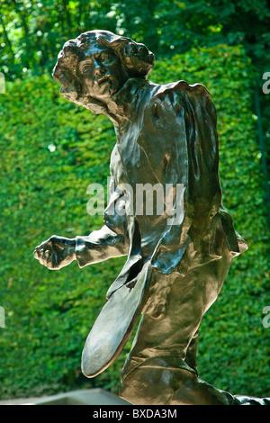 Bronze von Claude Lorrain von Auguste Rodin befindet sich im Auguste Rodin-Museum, Paris - Stockfoto