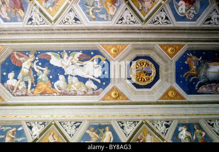 FRESKO, VILLA FARNESINA, MUSEUM, TRAVESTERE, ROM, ITALIEN - Stockfoto