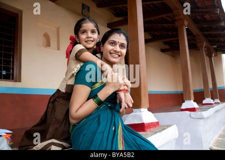 Porträt eines Mädchens und ihre Mutter - Stockfoto