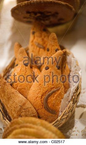 Bäckerei - Paris Frankreich - Kekse - Stockfoto