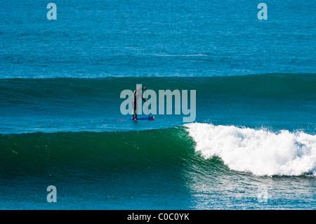 Stand up Paddle Surfing, Punto San Carlos, Baja California, Mexiko - Stockfoto