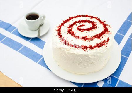 Hausgemachte rote Samt-Kuchen - Stockfoto