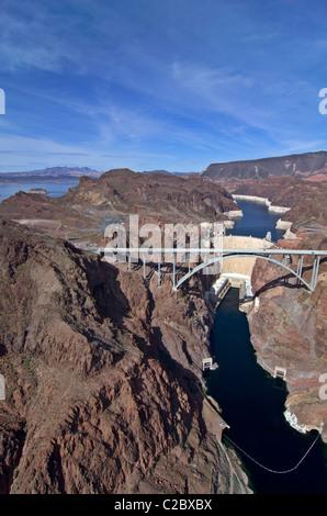 Pat Tillman Brücke Bypass und den Hoover Dam - Stockfoto