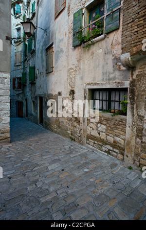Rovinj Stadt Gasse, Istrien, Kroatien - Stockfoto