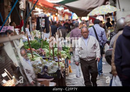 Sizilianisches Marktes (Mercato) Palermo Sizilien Italien - Stockfoto