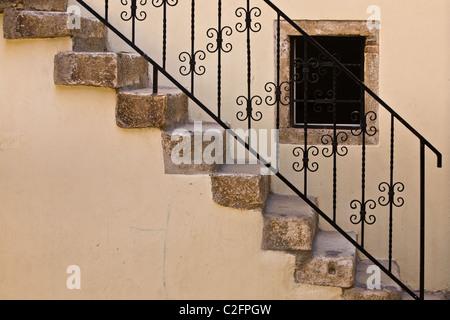 Treppen in Rovinj, Istrien, Kroatien - Stockfoto