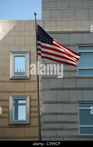 Flagge der Vereinigten Staaten von Amerika, Berlin, Deutschland - Stockfoto