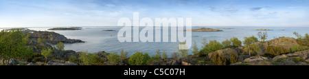 Panorama-Aufnahme der Landschaft und des Meeres in Stockholm, Schweden - Stockfoto