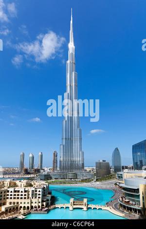 Das Burj Khalifa, abgeschlossen im Jahr 2010 die höchsten künstlichen Bauwerk der Welt, Dubai, Vereinigte Arabische - Stockfoto