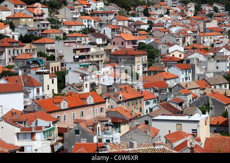 Die Dächer von Sibenik, Kroatien - Stockfoto