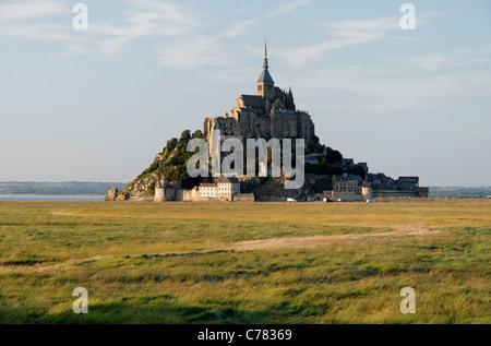 Mont Saint-Michel (Manche, Normandie, Frankreich). - Stockfoto