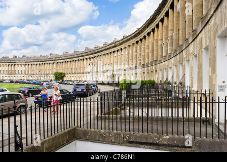 Royal Crescent, Bath, Somerset, England, Vereinigtes Königreich - Stockfoto