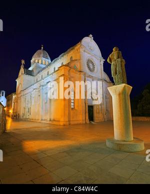 Sibenik, Kroatien, Kathedrale - Stockfoto