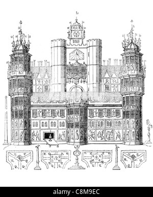 Nonsuch Palace Tudor Königspalast Henry VIII Surrey England Renaissance Design verziert - Stockfoto