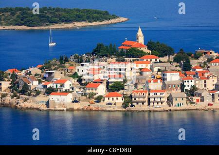 Altstadt von Primosten in Kroatien - Stockfoto