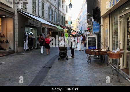 Rue Meynadier, Cannes, Côte d ' Azur, Alpes-Maritimes, Provence, Frankreich, Europa - Stockfoto
