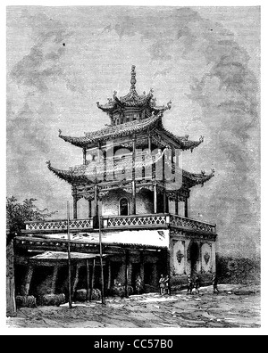 1886 buddhistischen Tempel in Birma - Stockfoto