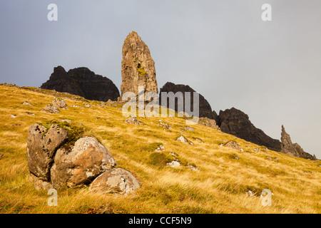Der Old Man of Storr auf der Trotternish Ridge auf der Isle Of Skye, Schottland - Stockfoto