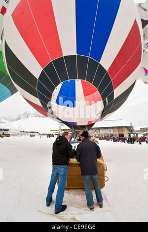 Luftballons International Festival, Chateau d ' Oex, Schweiz - Stockfoto