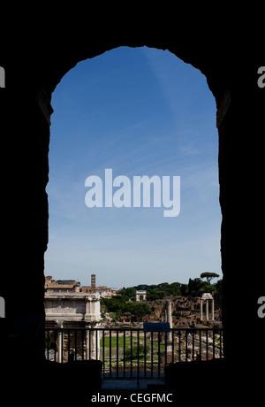 Roman Forum Blick vom Kapitol, Rom, Latium, Italien - Stockfoto