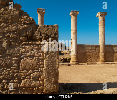 CY - NEA PAPHOS: Tempel Reste im archäologischen Park (Kato Pafos) - Stockfoto