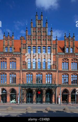 Das alte Rathaus / Altes Rathaus in Hannover, Niedersachsen, Deutschland zu senken - Stockfoto