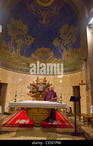 Interieur von der Kirche aller Nationen, auch bekannt als die Kirche oder die Basilika der Agonie in Jerusalem - Stockfoto