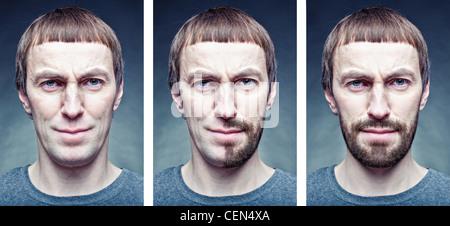 das Gesicht rasieren - Stockfoto