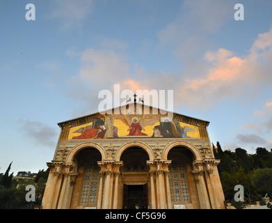 Kirche aller Nationen, auch bekannt als Basiilca of Agony, soll die letzte Stelle Jesus Prayed vor Verhaftung. - Stockfoto