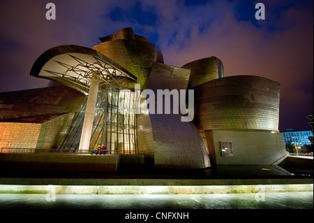 Guggenheimmuseum in Bilbao, Baskenland, Spanien - Stockfoto