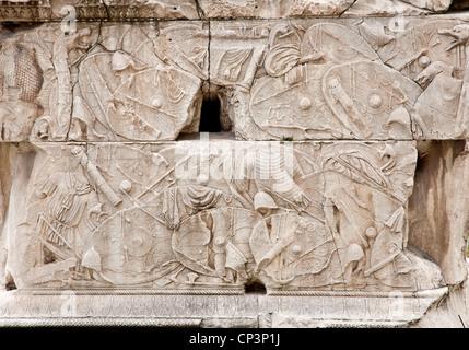 Rom - Detail von der Säule des Trajan - Stockfoto