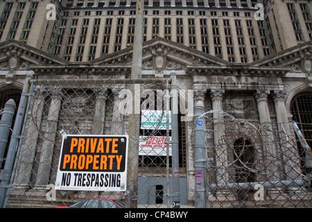 Detroits vernachlässigte Bahnhof - Stockfoto