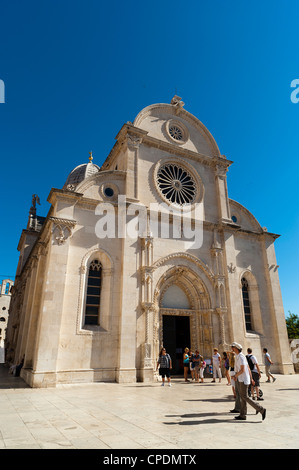 Katedrala Sv. Gjakove (St. James Cathedral), UNESCO-Weltkulturerbe, Sibenik, Dalmatien, Kroatien, Europa - Stockfoto